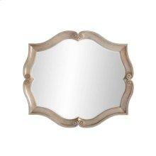 Juniper Dell Scalloped Mirror - Tarnished Silver Leaf