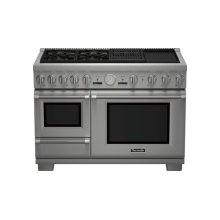 48 inch Professional Series Pro Grand Commercial Depth Dual Fuel Steam Range PRD48NCSGC