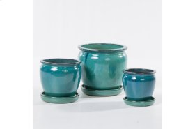 Barile Planter with saucer - Set of 3
