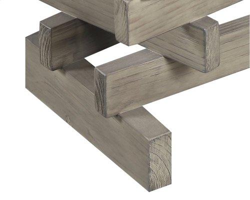Emerald Home Jenga Sofa Table Driftwood T833-02-k