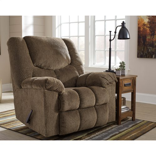 Signature Design by Ashley Turboprop Rocker Recliner in Brownstone Fabric [FSD-1459REC-BNS-GG]