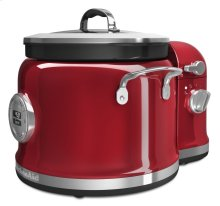 4-Quart Multi-Cooker with Stir Tower Accessory - Candy Apple Red