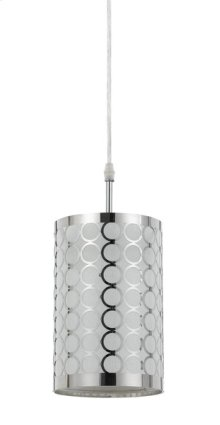 60W MADRID METAL FRAMED SINGLE PENDANT FIXTURE.