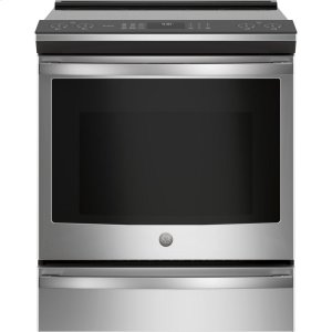 """GE ProfileGE PROFILEGE Profile™ 30"""" Smart Slide-In Front-Control Induction and Convection Range"""