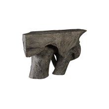 Chamcha Wood Console Table, Grey Stone