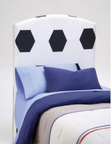 PU Youth Twin Headboard - Soccer