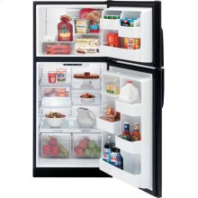 GE® 17.9 Cu. Ft. Top-Freezer Refrigerator (This is a Stock Photo, actual unit (s) appearance may contain cosmetic blemishes. Please call store if you would like actual pictures). This unit carries our 6 month warranty, MANUFACTURER WARRANTY and REBATE NOT VALID with this item. ISI 32797