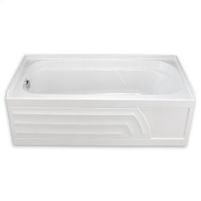 """White Colony 5 ' x 30"""" with Integral Apron Bathtub Only"""