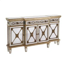 CONSOLE TABLE WITH MIRROR GLASS