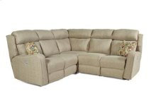 Double Reclining Sectional with Power Headrest