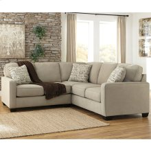 Signature Design by Ashley Alenya 2-Piece Sofa Sectional in Quartz Microfiber [FSD-1669SEC-2PC-QTZ-GG]