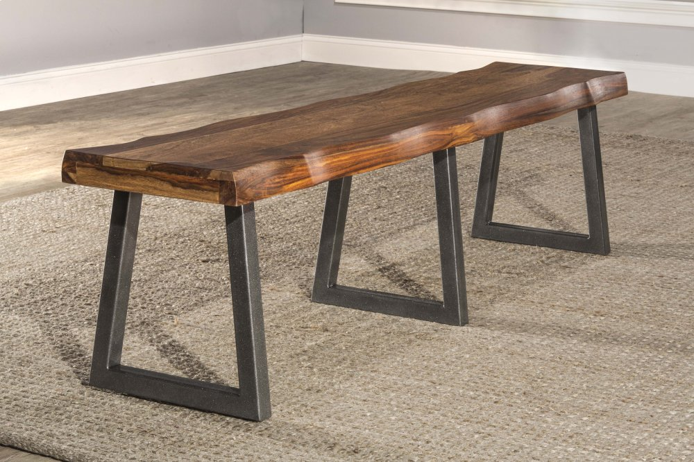 5674B By Hillsdale Furniture At Schewels VA   Emerson Bench   Natural  Sheesham