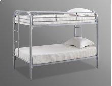 Edison Silver Twin / Twin Metal Bunk Bed