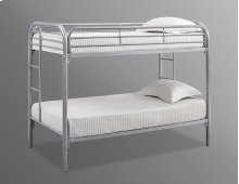 Edison Silver Twin / Twin Metal Bunk Bed