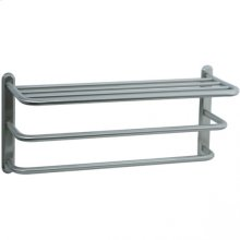Highlands - Three Tier Towel Shelf - Unlacquered Brass