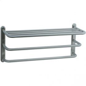 Highlands - Three Tier Towel Shelf - Polished Nickel