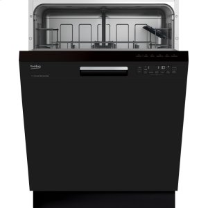 BekoBlack Front Control, Pocket Handle Dishwasher, 5 Programs, 48 dBA