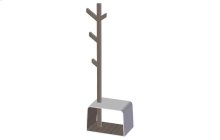 Stool with Clothes Hanger in Wood and Corian®