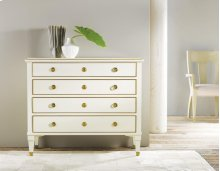 19th Century Classical Chest, Painted Antique White. Solid Brass Details & Hardware.