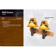 Hickory Wall Sconce - Double