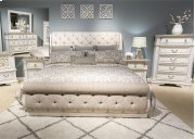 King Uph Sleigh Bed, Dresser & Mirror, Chest Product Image