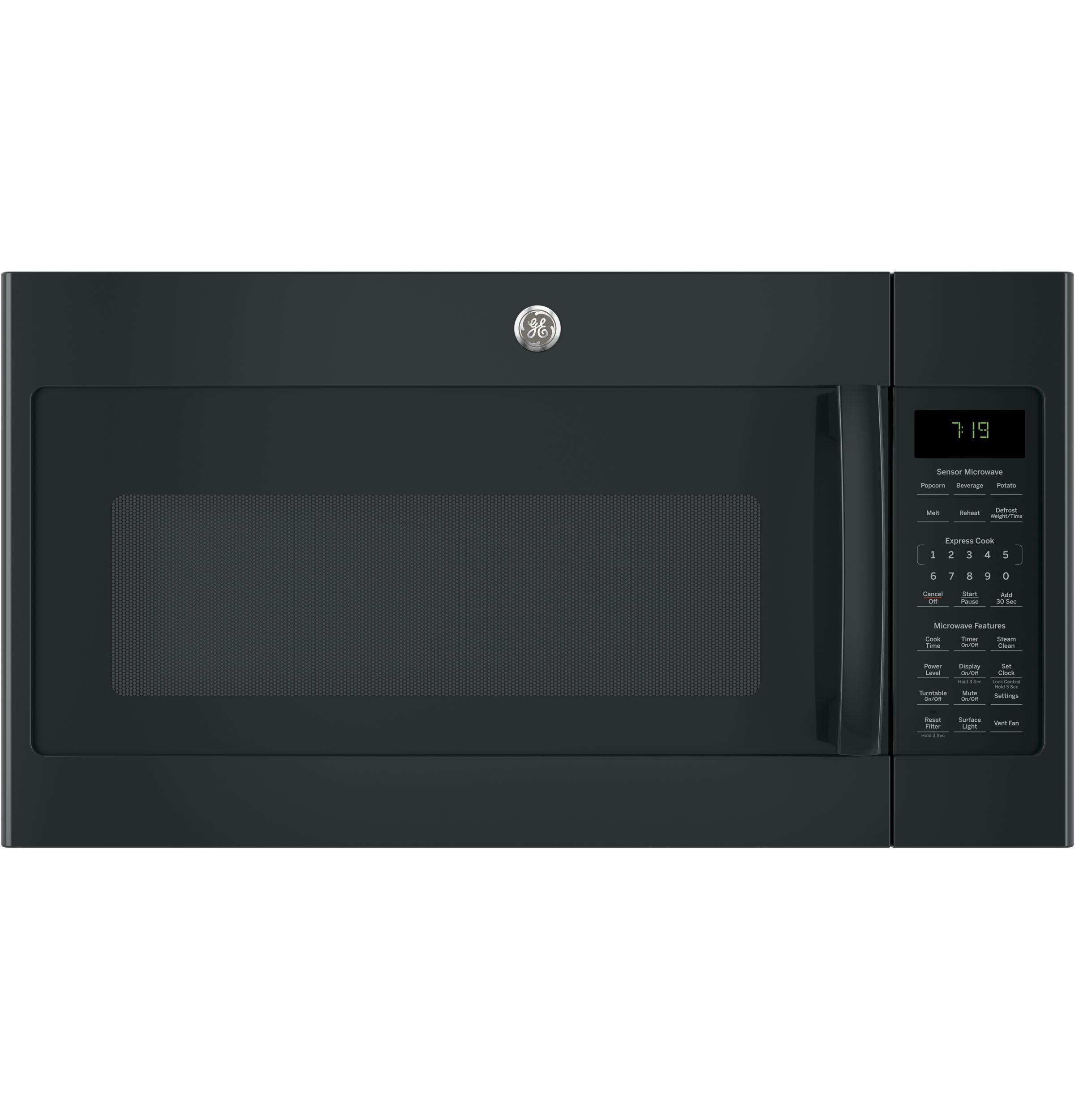 GE(R) 1.9 Cu. Ft. Over-the-Range Sensor Microwave Oven  BLACK