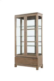 Emerald Home Vista Display Cabinet Weathered Gray D242-70 Product Image