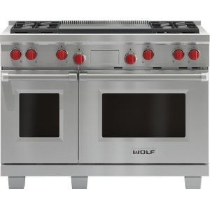 "Wolf48"" Dual Fuel Range - 4 Burners and Infrared Dual Griddle"