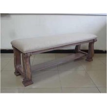 Ilana Traditional Upholstered Bench With Bottom Shelf