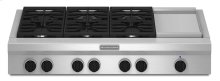 48-Inch 6 Burner with Griddle, Gas Rangetop, Commercial-Style - Stainless Steel **NEW IN BOX**