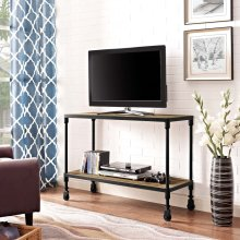"Raise 42"" Wood TV Stand in Brown"