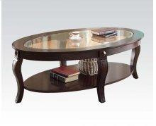 Oval Coffee Table W/gl Top