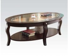 Oval Coffee Table W/gl Top