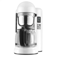 12 Cup Coffee Maker with One Touch Brewing - White