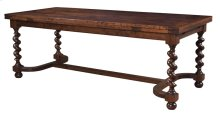 """Refectory Table with Barley Twist Legs with 18"""" Leaves"""