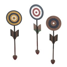 Bull's-eye Arrow Wall Decor (3 asstd)