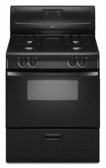 """Black Whirlpool® 30"""" Standard Clean Freestanding Gas Range"""