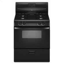 "Black Whirlpool® 30"" Standard Clean Freestanding Gas Range"