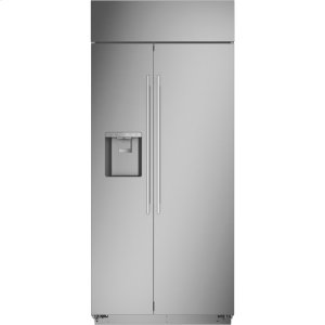 """MonogramMonogram 36"""" Built-In Side-by-Side Refrigerator with Dispenser - AVAILABLE EARLY 2020"""