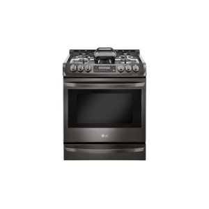 6.3 cu. ft. Gas Single Oven Slide-in Range with ProBake Convection® and EasyClean® - BLACK STAINLESS STEEL