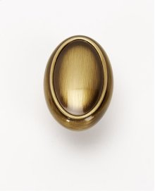 Classic Traditional Oval Knob A1560 - Antique English
