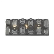 Monserrat 3-Light Vanity Sconce in Oil Rubbed Bronze with Clear Glass