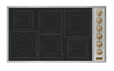 """36"""" All-Induction Cooktop, Brass Accent"""