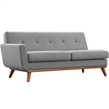 Engage Left-Arm Loveseat in Expectation Gray