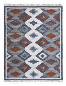 8'x10' Size Handwoven Bordered Modern Kilim Rug