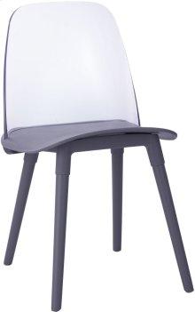 Pasha Grey Acrylic Chair (Set of 2)