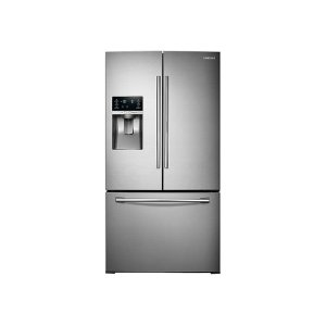Samsung 鸭博娱乐s28 cu. ft. Food Showcase 3-Door French Door Refrigerator in Stainless Steel