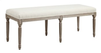 Emerald Home Salerno Bench W/uph Seat-sand Gray/distressed Finish-u3693a-36-09 Product Image