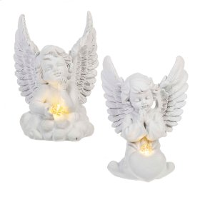 4 pc. ppk. LED Cherub.