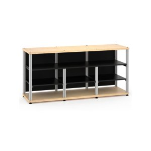 Salamander DesignsSynergy 30 Triple-Width Core Module with Center Opening, Maple with Aluminum Posts